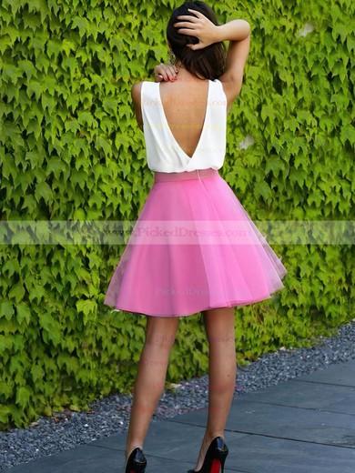 A-line V-neck Short/Mini Organza Prom Dresses #PDS020106310