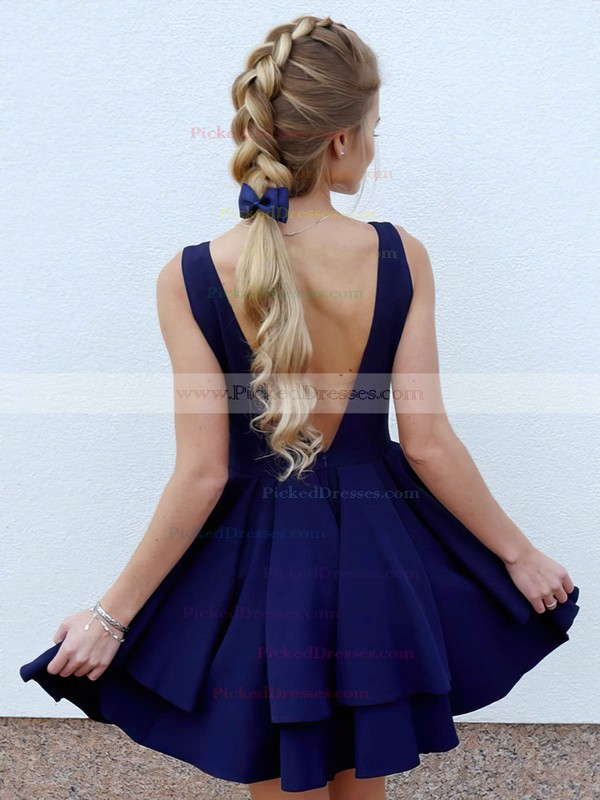 Princess V-neck Short/Mini Tiered Prom Dresses #PDS020106325