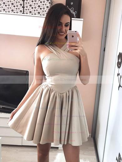 A-line V-neck Short/Mini Prom Dresses #PDS020106344