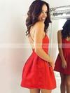 A-line Scoop Neck Short/Mini Ruffles Prom Dresses #PDS020106354