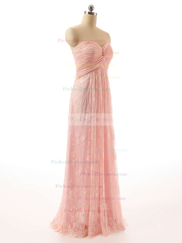 Boutique Sweetheart Lace with Ruffles Floor-length Empire Prom Dresses #PDS020102462