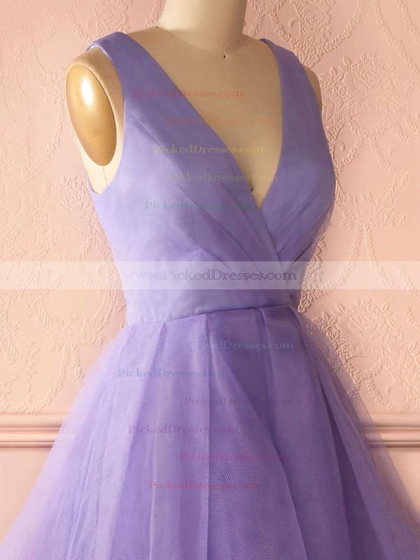 Princess V-neck Tiered Organza Floor-length Affordable Prom Dresses #PDS020102740