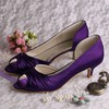 Women's Satin with Bowknot Kitten Heel Pumps Peep Toe #PDS03030080