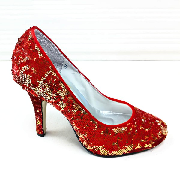 Women's Sparkling Glitter with Sequin Stiletto Heel Pumps Closed Toe