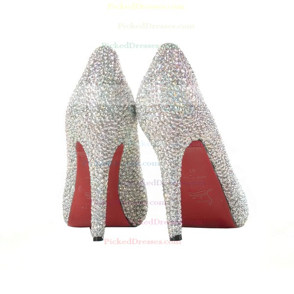 Women's Multi-color Suede Pumps/Closed Toe with Crystal