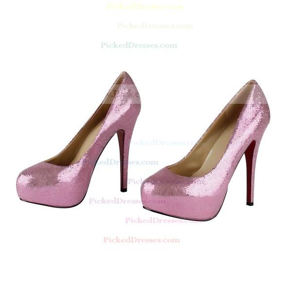 Women's Fuchsia Sparkling Glitter Platform/Pumps with Sparkling Glitter