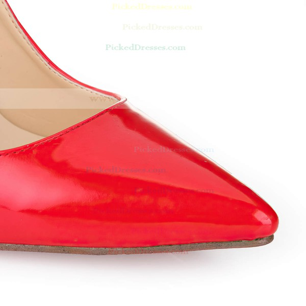 Women's Red Patent Leather Pumps/Closed Toe