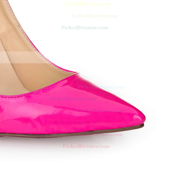 Women's Fuchsia Patent Leather Pumps/Closed Toe