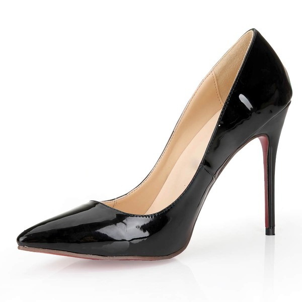 Women's Black Patent Leather Closed Toe/Pumps