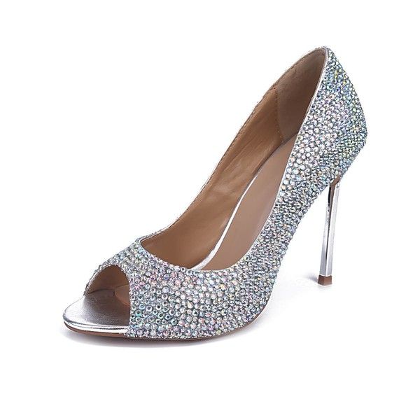 Women's Multi-color Real Leather Stiletto Heel Pumps