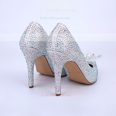 Women's Multi-color Sparkling Glitter Stiletto Heel Pumps #PDS03030860