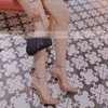 Women's Pumps Stiletto Heel Silver PVC Wedding Shoes #PDS03030862