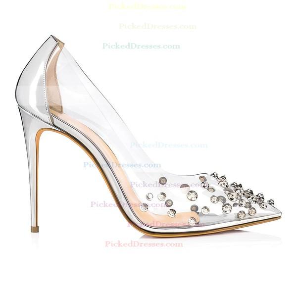 Women's Pumps Stiletto Heel Gold Leatherette Wedding Shoes