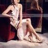 Women's Pumps Stiletto Heel Red Leatherette Wedding Shoes #PDS03030868