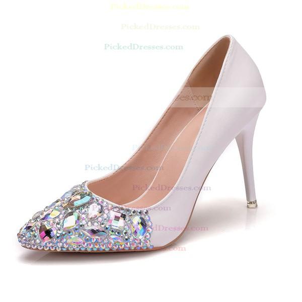 Women's Pumps Stiletto Heel Ivory Leatherette Wedding Shoes
