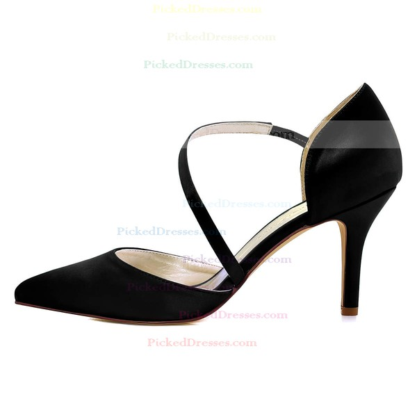 Women's Pumps Stiletto Heel Satin Wedding Shoes
