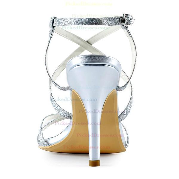 Women's Sandals Stiletto Heel Sparkling Glitter Wedding Shoes
