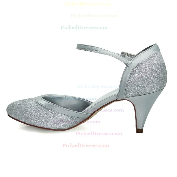 Women's Pumps Cone Heel Sparkling Glitter Wedding Shoes