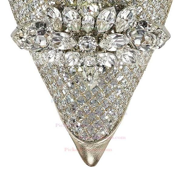 Women's Multi-color Sparkling Glitter Closed Toe with Rhinestone