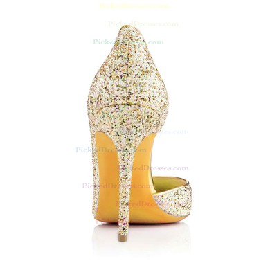 Women's Multi-color Sparkling Glitter Pumps with Sequin #PDS03030317
