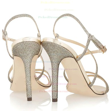 Women's Multi-color Sparkling Glitter Pumps with Buckle #PDS03030336