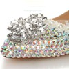 Women's  Patent Leather Flats with Crystal/Pearl #PDS03030438