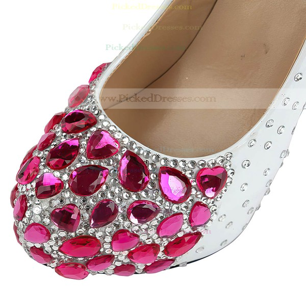 Women's  Patent Leather Pumps with Rhinestone/Crystal/Crystal Heel