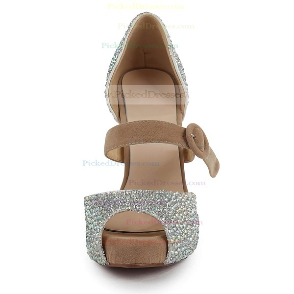 Women's  Suede Pumps with Buckle/Imitation Pearl