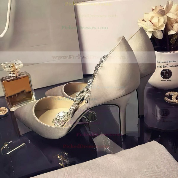 Women's Ivory Satin Stiletto Heel Pumps