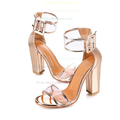 Women's Pumps 3 inch-3 3/4 inch Chunky Heel Shoes #PDS03030945