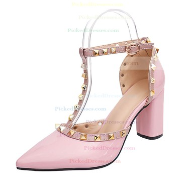 Women's Pumps 3 inch-3 3/4 inch Chunky Heel Shoes #PDS03030947