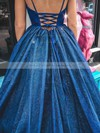 Ball Gown V-neck Floor-length Glitter Prom Dresses #PDS020106530