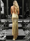 Trumpet/Mermaid V-neck Floor-length Sequined Appliques Lace Prom Dresses #PDS020106539