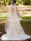 Online Ivory Lace V-neck with Sashes/Ribbons Open Back Wedding Dress #PDS00020713