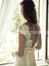 Ivory Tulle Lace with Sashes/Ribbons Open Back Sheath/Column Wedding Dress #PDS02016957