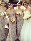 Light Slate Gray Lace Sashes/Ribbons Trumpet/Mermaid 2016 Bridesmaid Dresses #PDS01012222