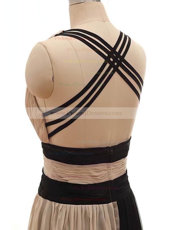 Chiffon Satin Tulle A-line V-neck Floor-length Ruffles Bridesmaid Dresses #PDS02018168