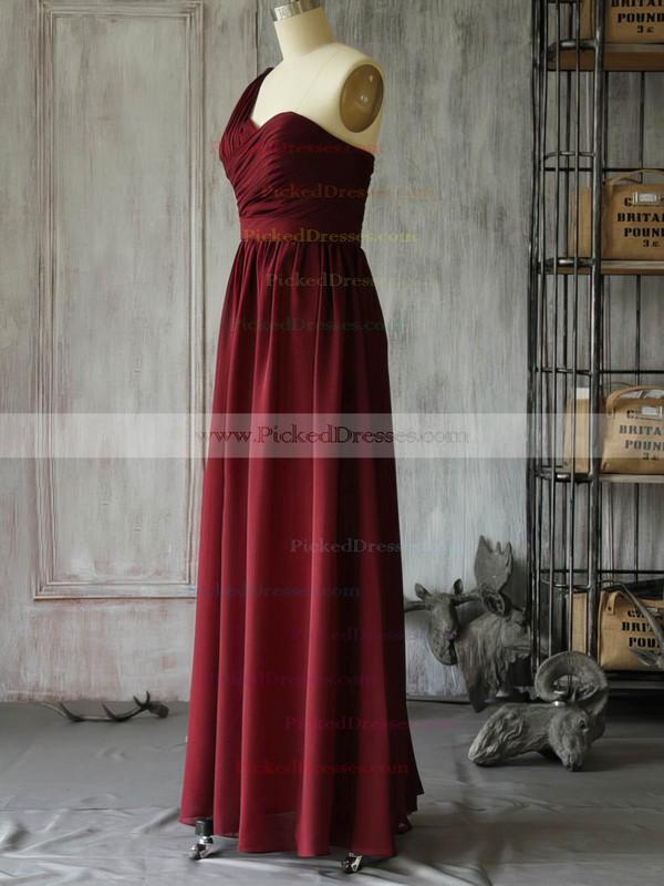 Chiffon A-line One Shoulder Floor-length Ruffles Bridesmaid Dresses #PDS02017962