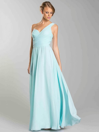 Chiffon A-line Sweetheart Floor-length Ruffles Bridesmaid Dresses #PDS02018054